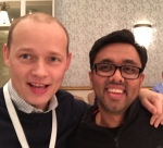 Josh and Hiten at Lean Startup conference